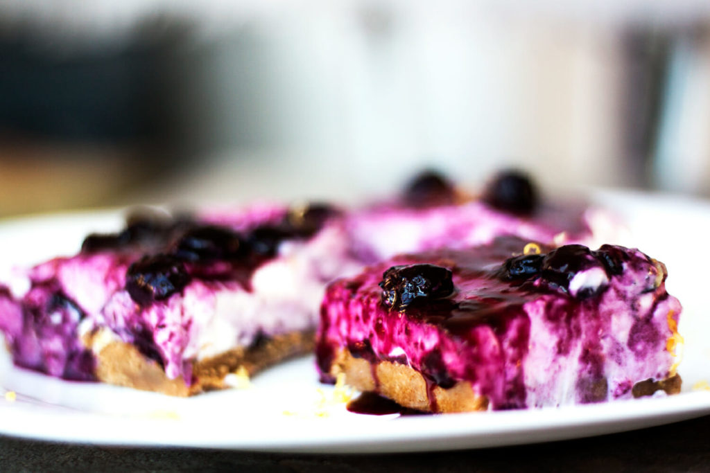 No-Bake Blueberry-Lemon Cheesecake