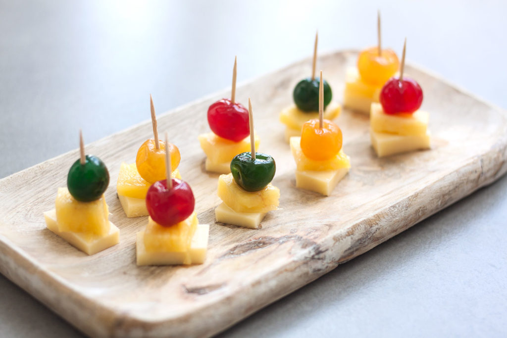 Cheese and Pineapple Sticks