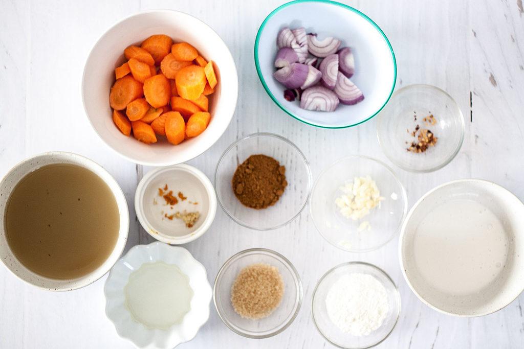 ingredients for Tofu Katsu Curry [vegan]