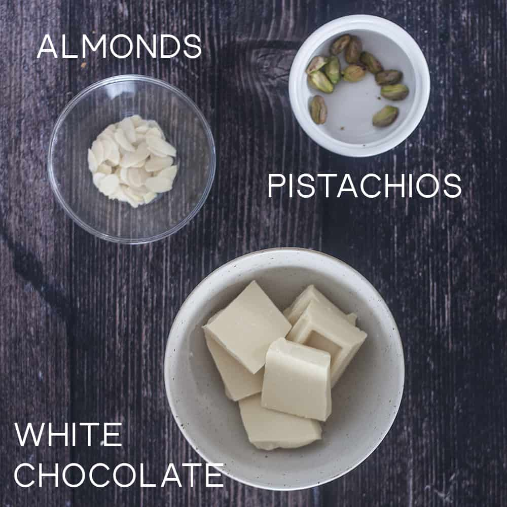 ingredients for White Chocolate Ricotta Donuts
