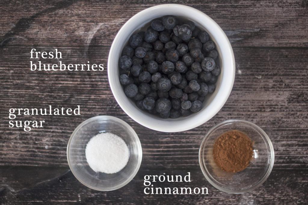 ingredients for Eggless Blueberry Swirl Yogurt Muffins blueberry jam