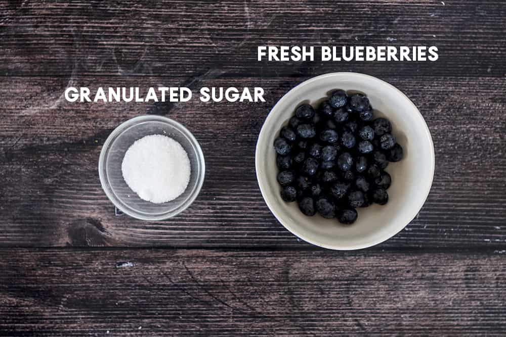 ingredients for homemade blueberry puree