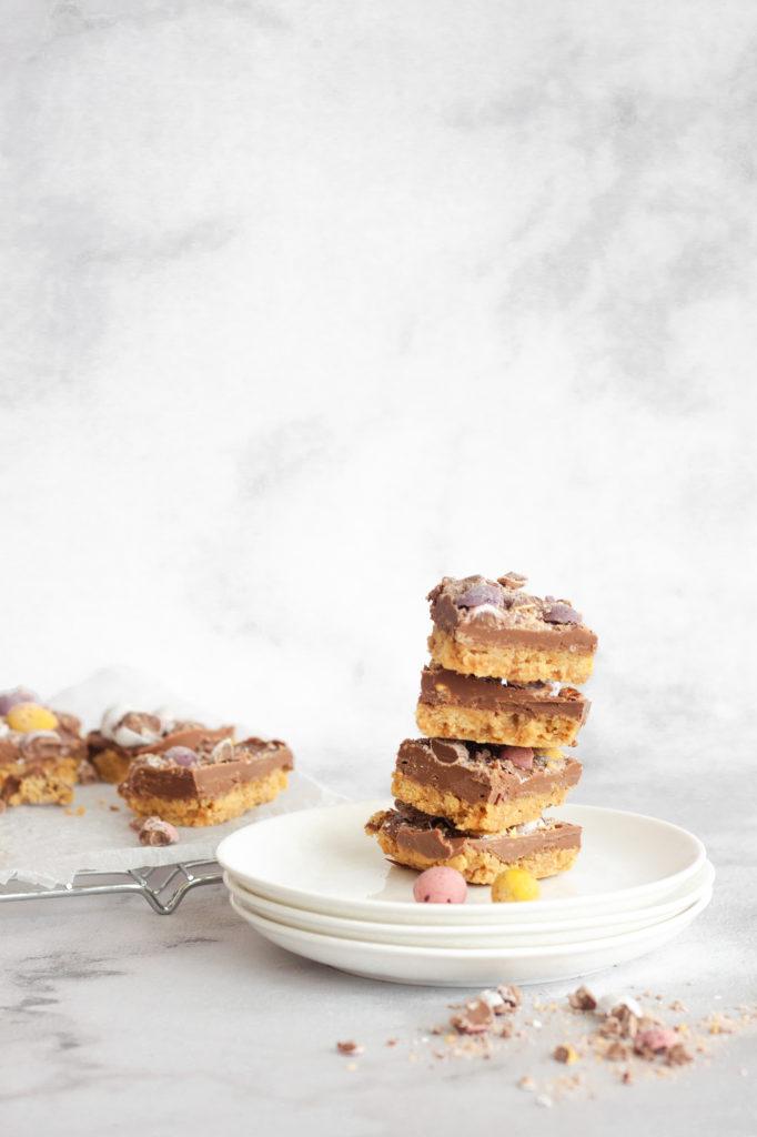 stacked no-bake easter slice