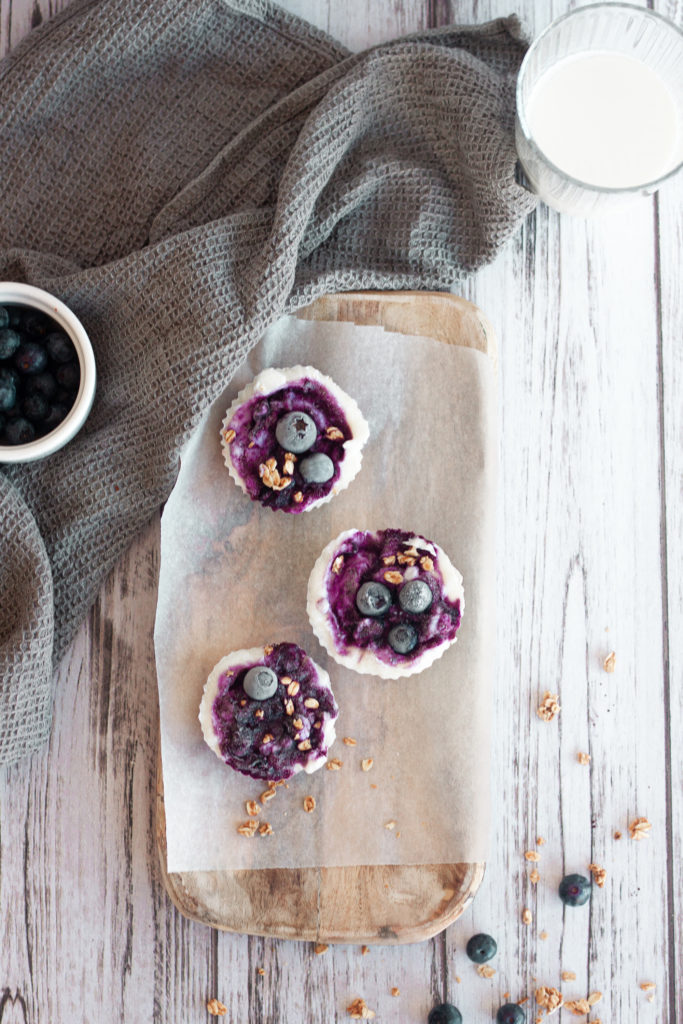 Frozen blueberry yogurt bites