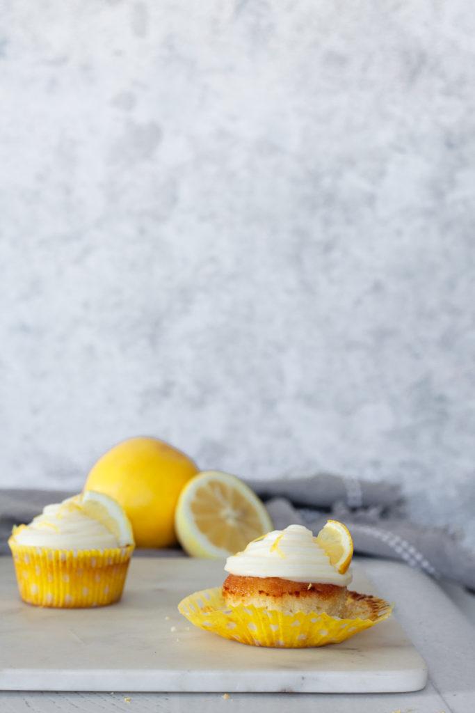 Limoncello Cupcakes with Mascarpone Lemon Frosting