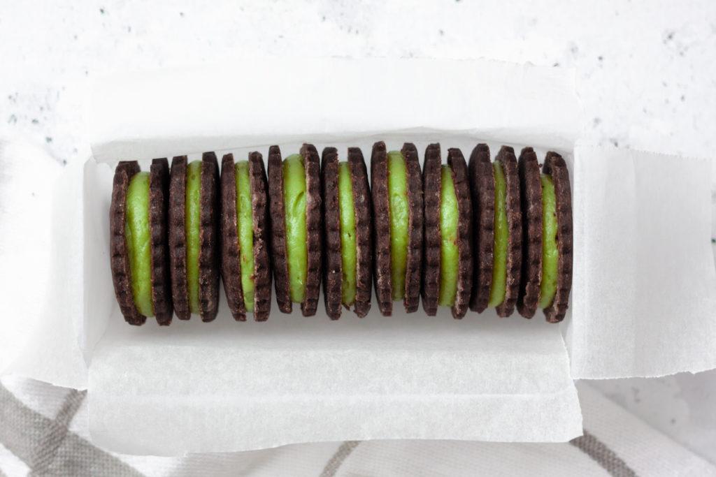 Chocolate Matcha Sandwich Cookies