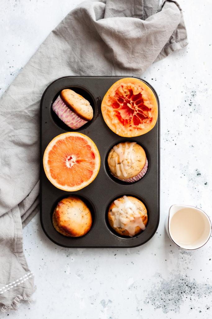 grapefruit yogurt muffins