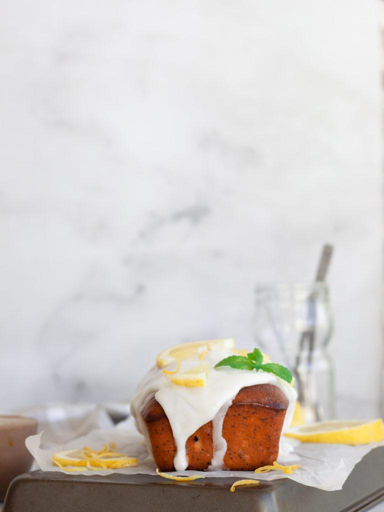 Glazed Lemon Poppy seed Yogurt Cake