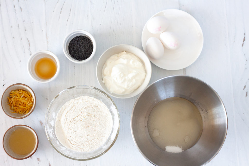 Ingredients for Lemon Poppyseed Yogurt Cake