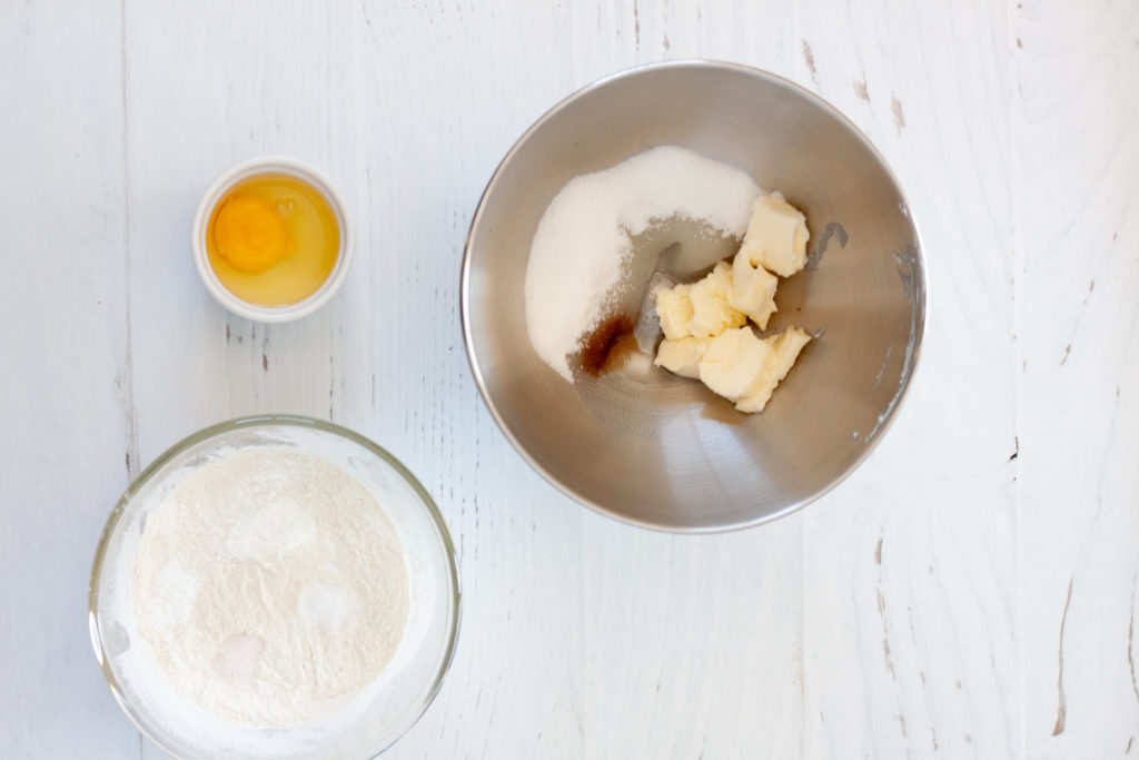 ingredients for Mascarpone Buttercream Frosted Cookies