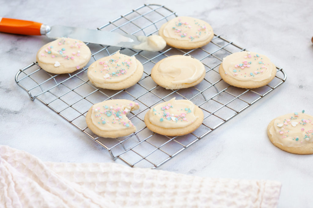 Mascarpone Buttercream Frosted Cookies