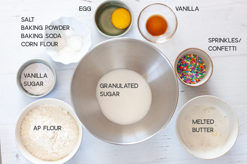 ingredients for funfetti cookies