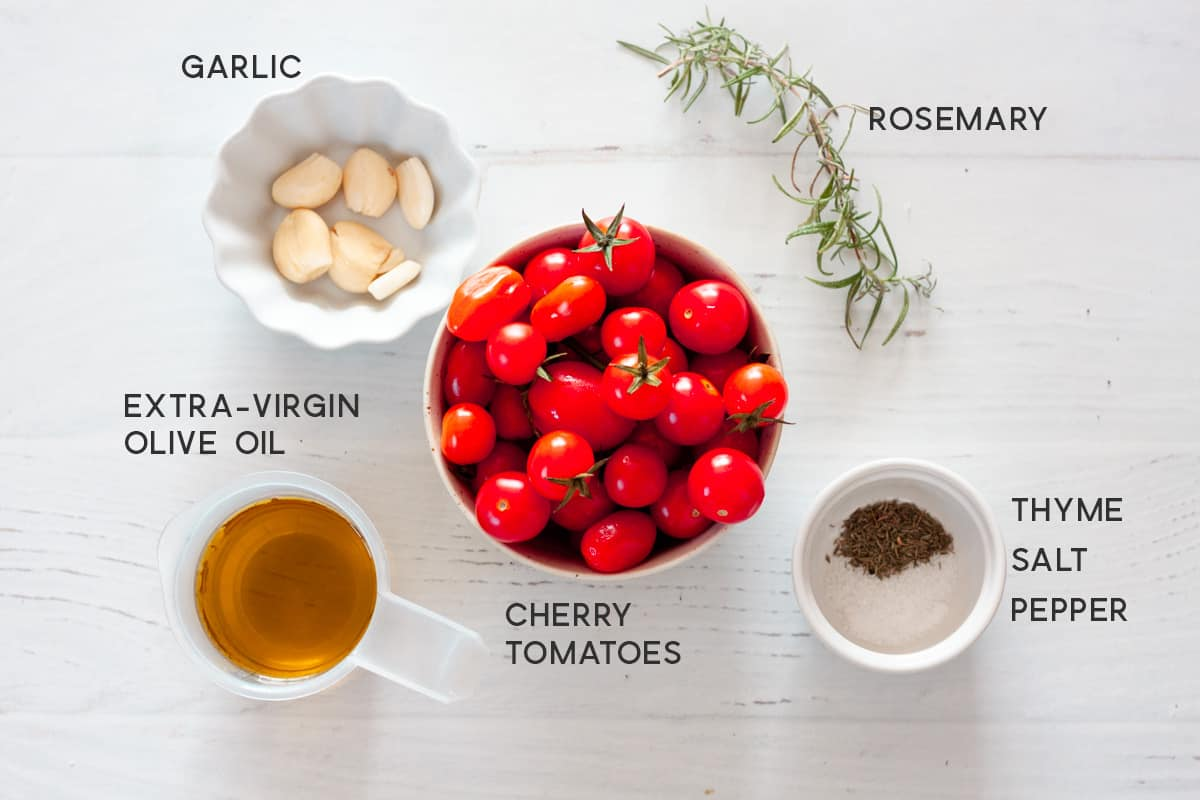 ingredients for cherry tomato confit