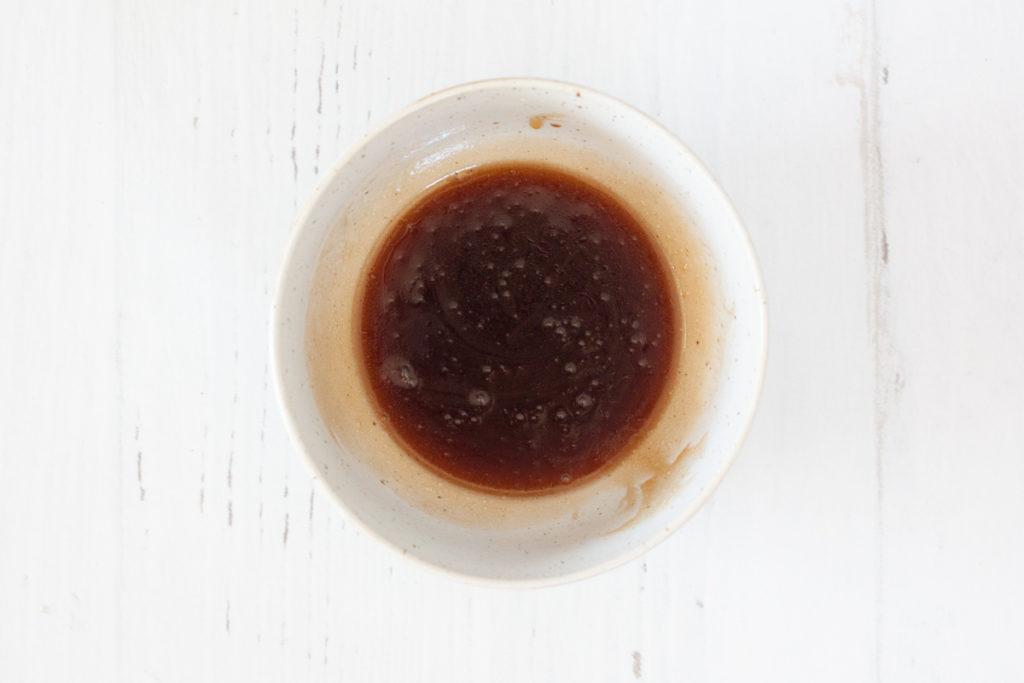honey vinaigrette in a small bowl