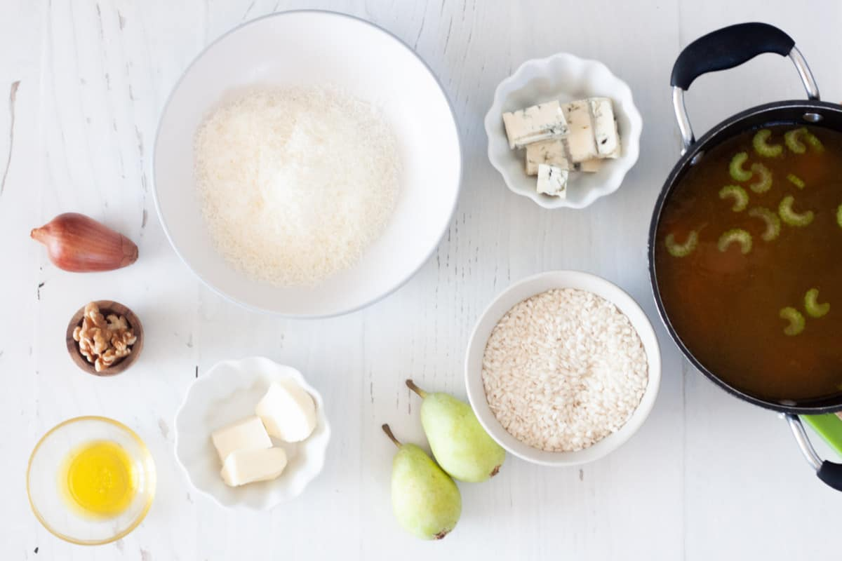 ingredients for gorgonzola risotto