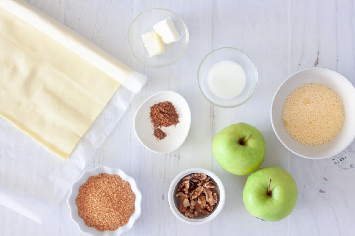 ingredients for puff pastry apple turnovers