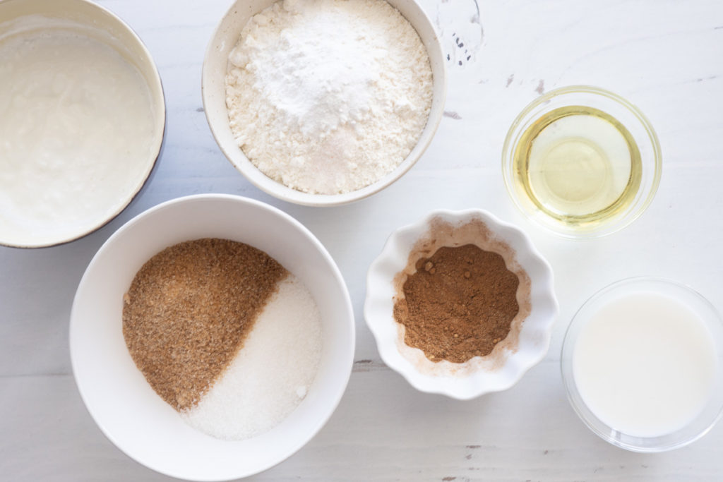 ingredients for eggless chai muffins